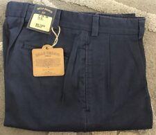 BRAND NEW-Bills khakis M1P-NTBL Size 34X30 Blue TWILL PLEATED $165
