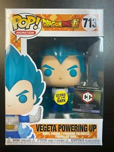 "Funko Pop Dragon Ball Super : Chalice : GITD Vegeta Powering up #713 ""MINT"""
