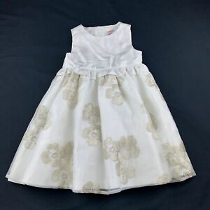 Girls size 3, Gymboree, lined embroidered flower girl / party dress, EUC