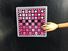 New Barbie Doll Checkers Game Board Diorama
