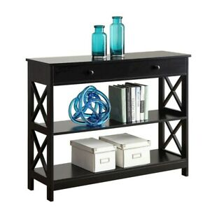 Convenience Concepts Oxford 1 Drawer Console Table, Black - 203295BL