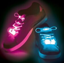 Tobar Toy Light Up Shoelaces LED 4 Assorted 80cm Flashing Wproof Festival