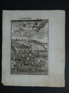 1719 Manesson MALLET Atlas map view  ANGRA - Azores - die stadt Angra