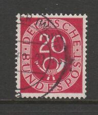 W Germany 1951 Posthorn 20pf carmín SG 1052 Fu
