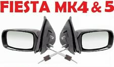 FORD FIESTA MK4 5 WING DOOR MIRRORS CABLE MANUAL BLACK BOTH SIDES 1 PAIR 1995-02
