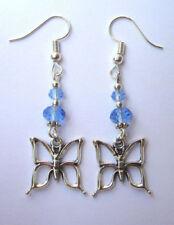 Handmade Art Deco Crystal Costume Earrings
