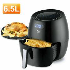 Friteuse électrique à air Chaud Sans Huile 6,5L Multifonction Numérique Cuisine