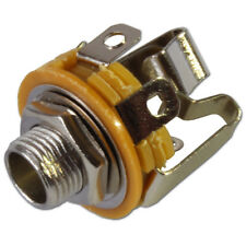 """6.35mm 1/4"""" Jack Stereo Switched Chassis Panel Mount Socket Connector"""