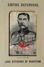 More details for an original lord kitchener of khartoum silk picture rare empire defenders series