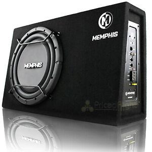 "Memphis Audio 12"" Powered Ultra Slim Bass System 500 Watts Max 2 Ohm SRXS112SP"