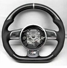 100% Real Carbon Fiber/Leather Car Steering Wheel For Audi TT R8