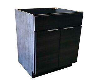 """NITURRA Moderno Series - 30"""" Bathroom Vanity Flat Door Style RTA Cabinet base"""
