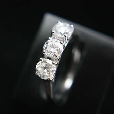 Engagement Three-Stone White Gold SI2 Fine Diamond Rings