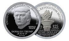 "1oz 2017 Inaugural Trump 999 Fine Silver Bullion Round Norfed $25 ""Inauguration"""