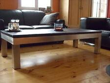 Couchtisch Beistelltisch Wohnzimmertisch + Tischplatte Schiefer Naturstein Stahl