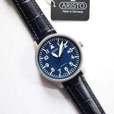 Aristo 3H157, Fliegeruhr, Blaue Beobachter, Edelstahl, matt, Automatikwerk