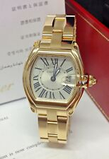 Cartier Roadster Yellow Gold W62018V1 BOX AND PAPERS 2009 SERVICED BY CARTIER