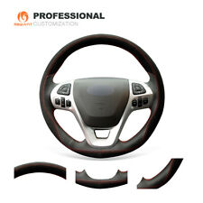 Suede Genuine Leather Steering Wheel Cover Ford Edge Explorer Flex Taurus