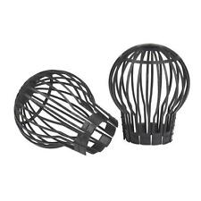 Set of 2 Flexible Plastic Gutter Rainwater Downpipe Leaf Trap Guard