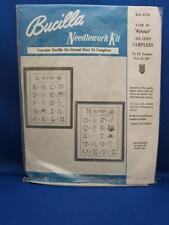 Vtg Bucilla PAIR OF ALPHABETS Cross Stitch Sampler Kit Nursery Baby Child Decor