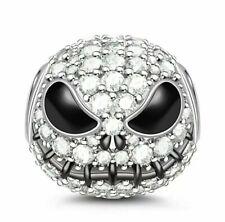 Crystal jack skellington bead charm skull christmas birthday halloween charm 373