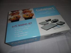 NEW Cuisinart Chef's Classic 6-Piece Classic Bakeware Non-Stick Baking Set