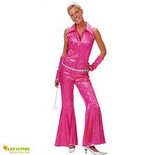 costume disco rosa anni 70 tg 40/42 travestimento vestito festa carnevale donna