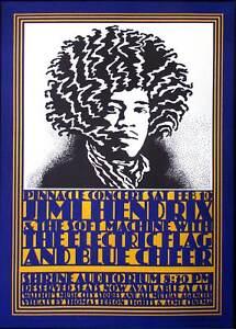 Jimi Hendrix Poster 1968 Shrine Auditorium 2005 Edition by John Van Hamersveld