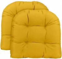 19 x 19 2 - Choose Size and Choose Color RSH D/écor Indoor//Outdoor Wicker 2 U-Shape Chair Cushions in Buffalo Plaid Fabric U-Shape Seat Cushions, Black Buffalo Plaid