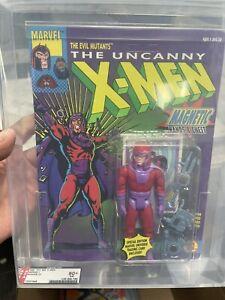 1991 ToyBiz Magneto Unpunched Figure Sealed New Graded AFA 80 MOC X Men