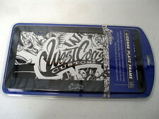 West Coast Customs License Plate Frame & Signature Logo Plate WCC-DML1