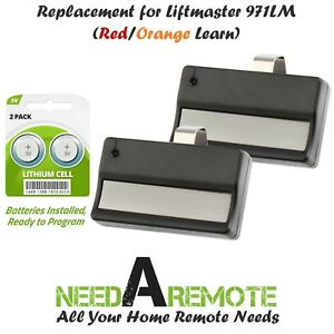 2 for LiftMaster 971LM Button Car Garage Door Opener Remote Control 390MHz