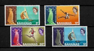 Bahamas, 1968 QEII Olympic Games, complete set MNH (B063)