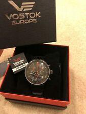 Vostok-Europe Men's 6S30/5654176 Tritium Tube Illumination Watch NIB