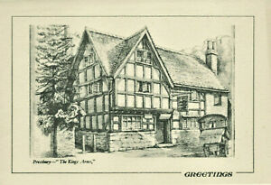 Vintage Illustrated Prestbury Kings Arms Greetings Card By Frederic A Barribal