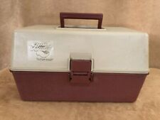 My Buddy Tacklemaster Tackle Box 5 Tray Expanding Heavy Plastic brown vintage