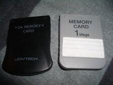 2 X SONY PLAYSTATION 1 PS1 PSX tarjetas de memoria de 1 MB 1MB + Soporte Para Caja De Almacenamiento Nuevo
