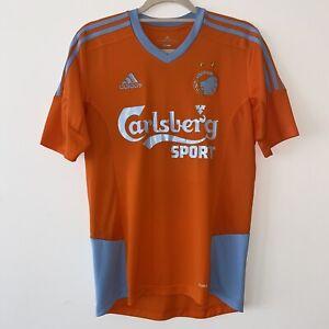 FC Copenhagen Away Adidas Football Shirt Orange Grey Small Cheap Free Post