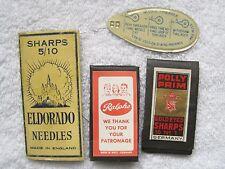 3 Vintage Needle Packs Polly Prim Ralph's & Eldorado & Tin Needle Threader  T50