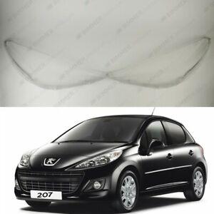 Peugeot 207 (2010 - 2013) OEM Headlight Glass Headlamp Lens Cover PAIR