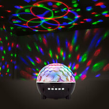 RECHARGEABLE WIRELESS BLUETOOTH DISCO BALL PARTY MUSIC SPEAKER & LED LIGHT SHOW