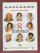 DVD - 8 FEMMES avec C. Denveuve, I. Huppert, E. Beart, F. Ardant, ....   (126)