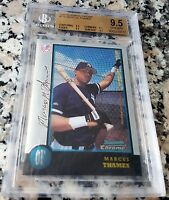 MARCUS THAMES 1998 Bowman Chrome Rookie Card RC BGS 9.5 TRUE GEM MINT Yankees