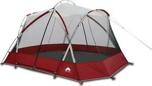 13'X11' Screen House Tent With Two Large Entrances Protective UV Coating Red