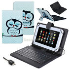 Vogue Pattern PU Leather Stand Case Cover MIcro USB Keyboard For 7