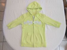 Aeropostale girl's 1/2 sleeve hoodie size medium-in crazy lime w/beads - VGUC!