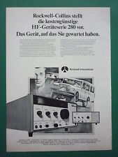 2/1979 PUB ROCKWELL COLLINS RADIO HF GERATESERIE 280 LAND ROVER GERMAN AD