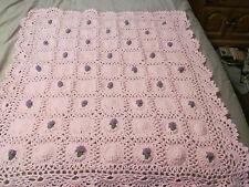 Crocheted Rosebud Afghan