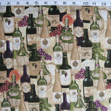 "C1037-13 WILMINGTON PRINTS ""Vintage"" Stacked Wine Bottles by the Yard"