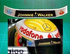 Helmet Visor to fit Lewis Hamilton F1 Mclaren Race Style Straight Grey